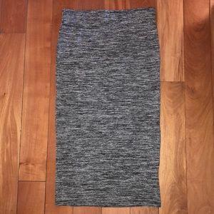 Zara Gray Midi Skirt - S